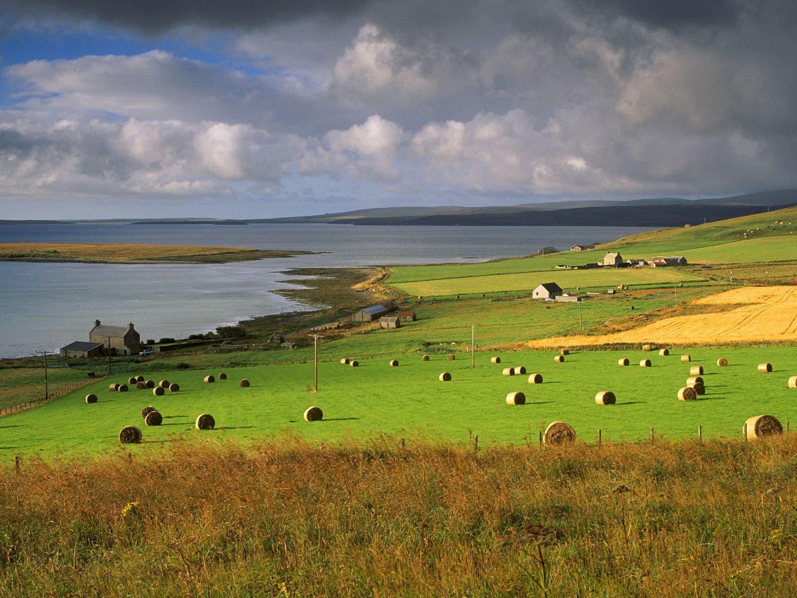 farmland at houton orkney islands scotland europe places i ve