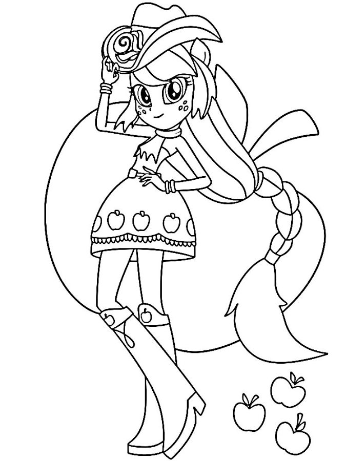 Apple Jack My Little Pony Coloring Coloring Pages For Girls My Pretty Pony