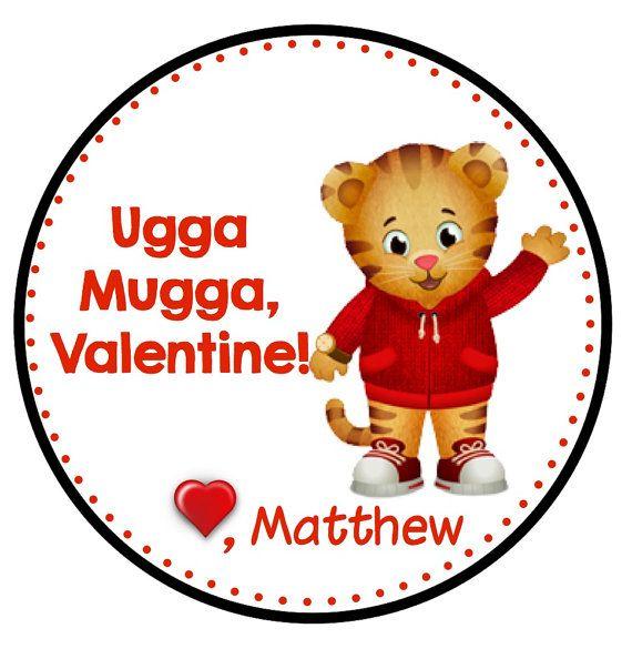 Charming Printable Daniel Tiger Valentine Tag On Etsy, $3.00