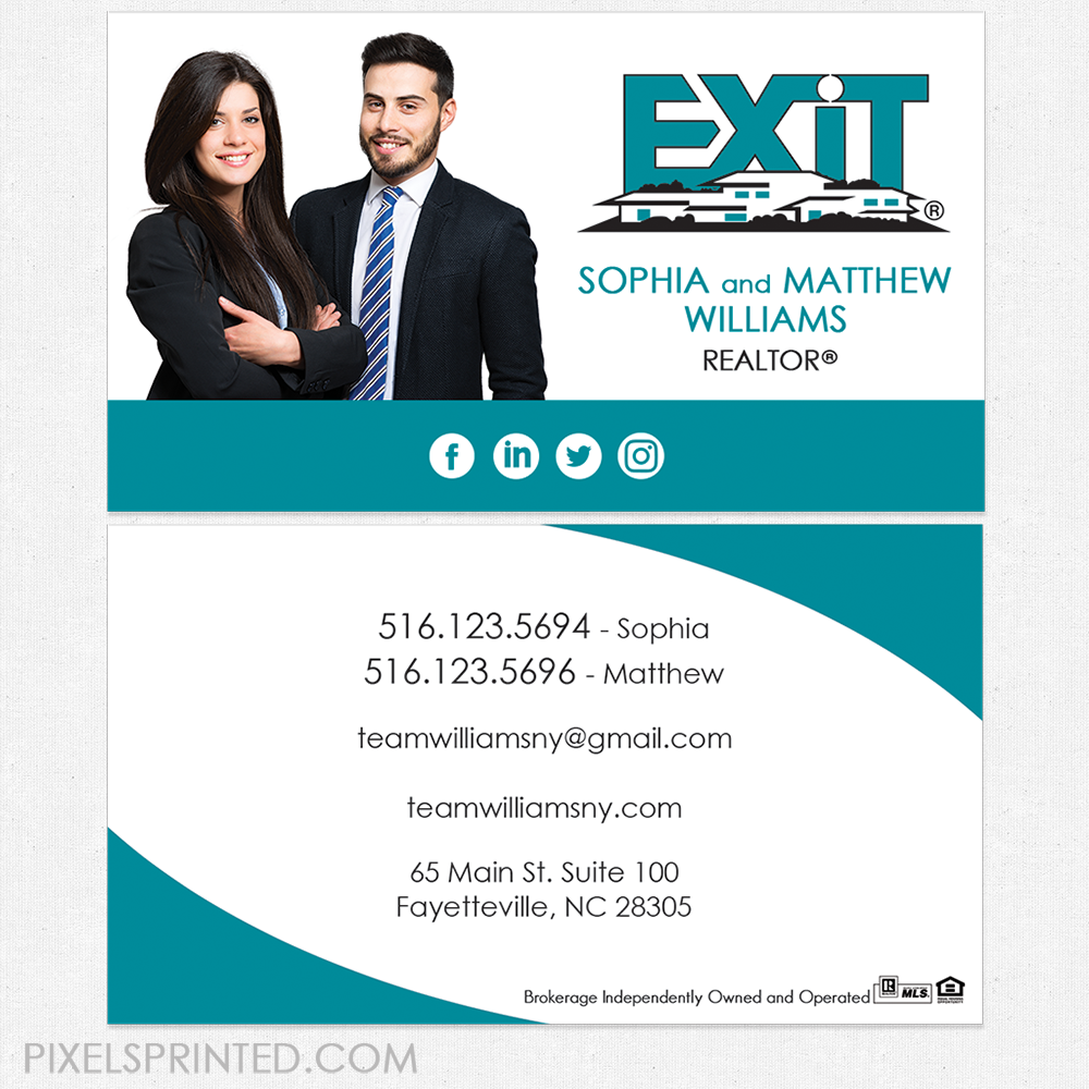 Exit Business Cards Realtor Business Cards Real Estate Business Cards Realtor Cards