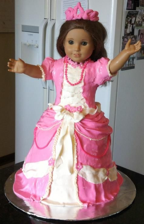 American Girl Doll Birthday Cake With Images American Girl