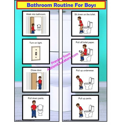 FREE! Bathroom Visual Schedule For Boys | Autism Interactive ...