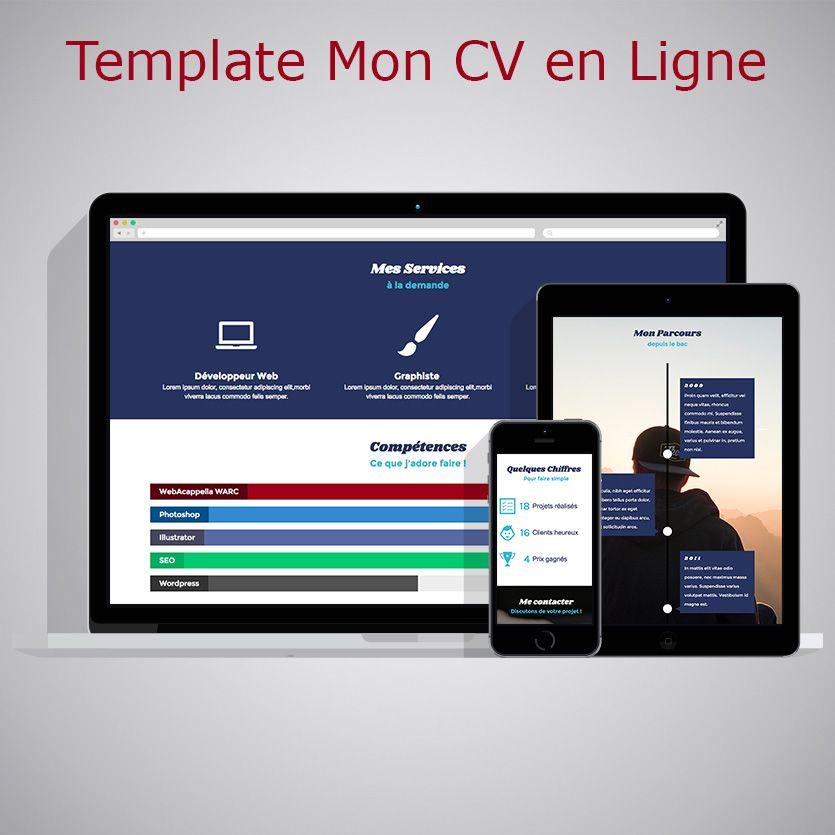 template cv en ligne Template CV en ligne WebAcappella Responsive | Templates  template cv en ligne