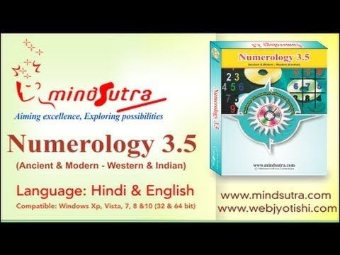Numerology Software 3 5 Demo in Hindi Language - YouTube | Astrology