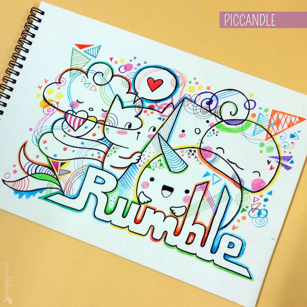 Doodle rumble doodle drawing ways of art dessin - Petit quick coloriage ...