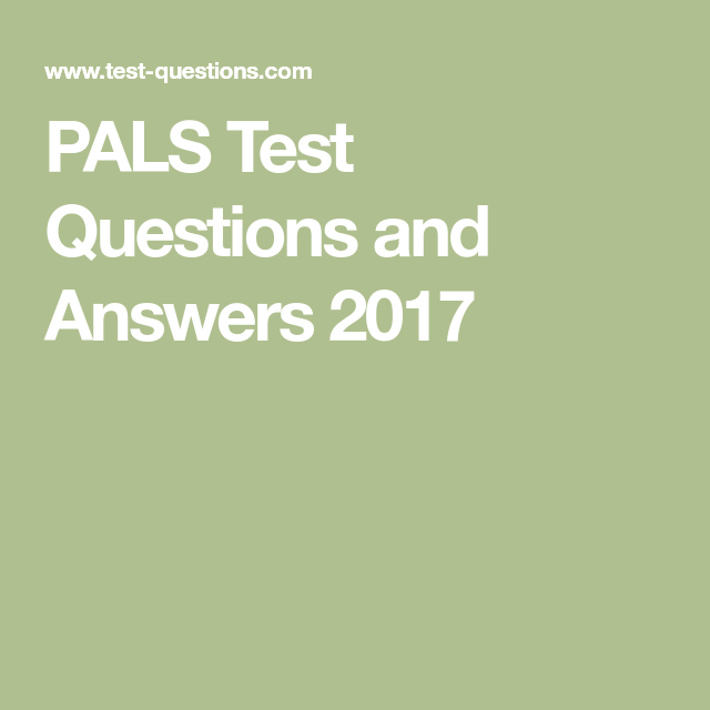 american heart association pals pretest