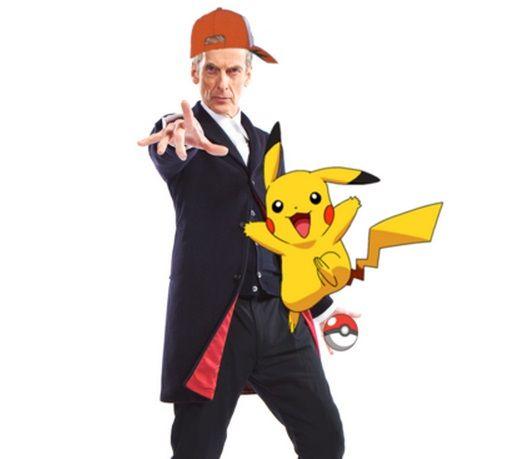 Peter Capaldi and Pikachu