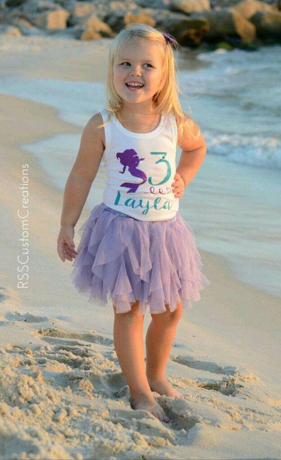 Mermaid Birthday Shirt Toddler Mermaid Birthday Choose Your Colors