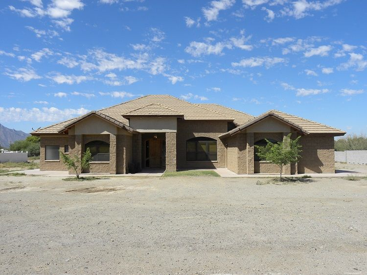 MLS # 5002141, 12222 S 44th Ave, Laveen, AZ, 2297 sq ft, 1.12 acres, 4 bedrooms, 3.5 baths, plus an office with exterior entrance. Travertine floors, new carpet, new paint, horse property.  Mountain views!  Stunning!!!