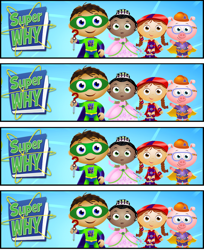 Bookmarks Super Why Party Super Why Birthday Super Why