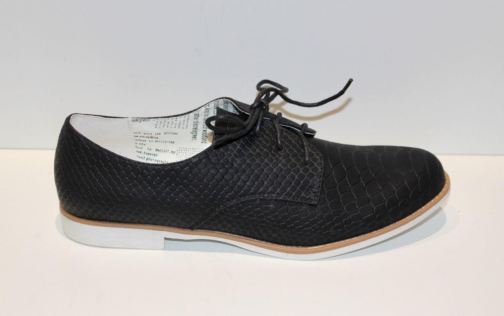 Derbies chaussures femme richelieu ballerines NOIR petit talon 42   eBay 41b3866adc04