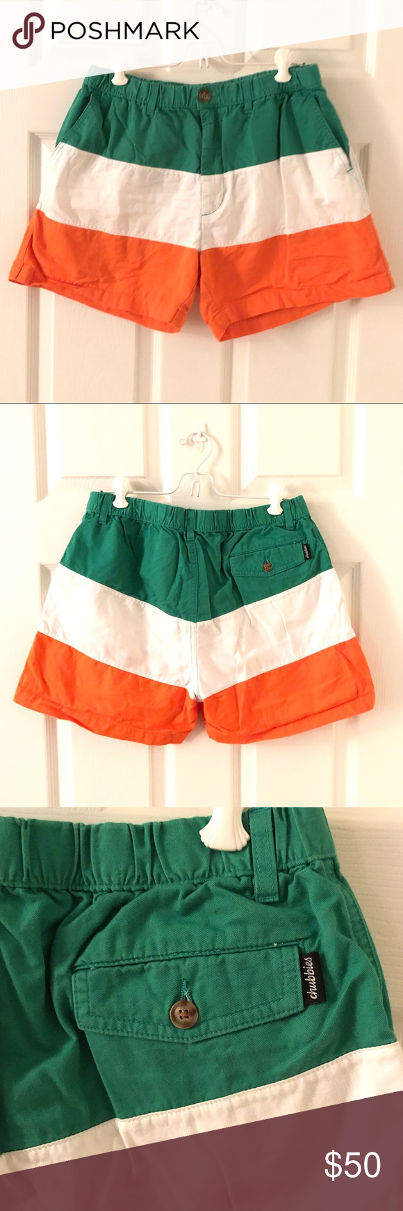 36e778d12 Chubbies St. Patrick's day shorts sz L Chubbies St. Patrick's day shorts sz  L Excellent preowned condition No damage noted chubbies Shorts