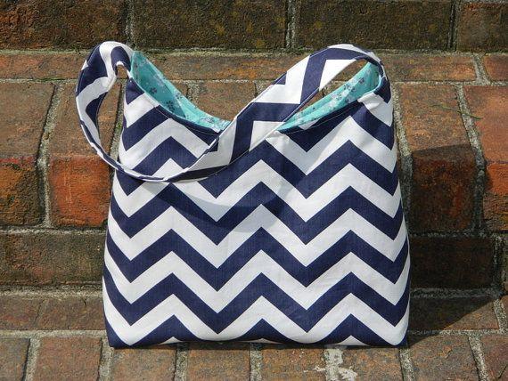 Handmade chevron large shoulder bag purse by ShopSublimeDesign, $38.00
