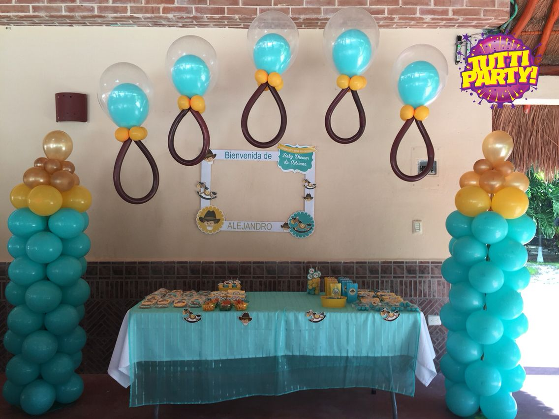 Baby shower ideas globos con helio playa del carmen - Baby shower decoracion ...