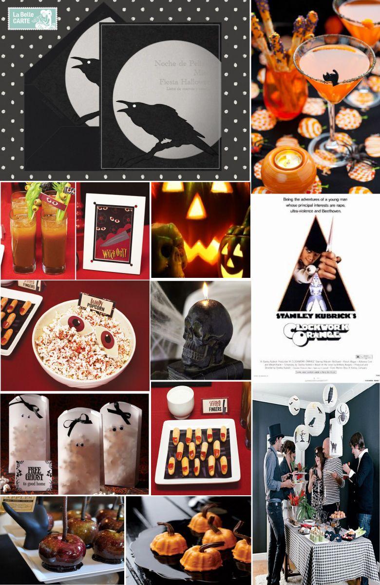 Halloween party invitations dinner ideas decor LaBelleCarte
