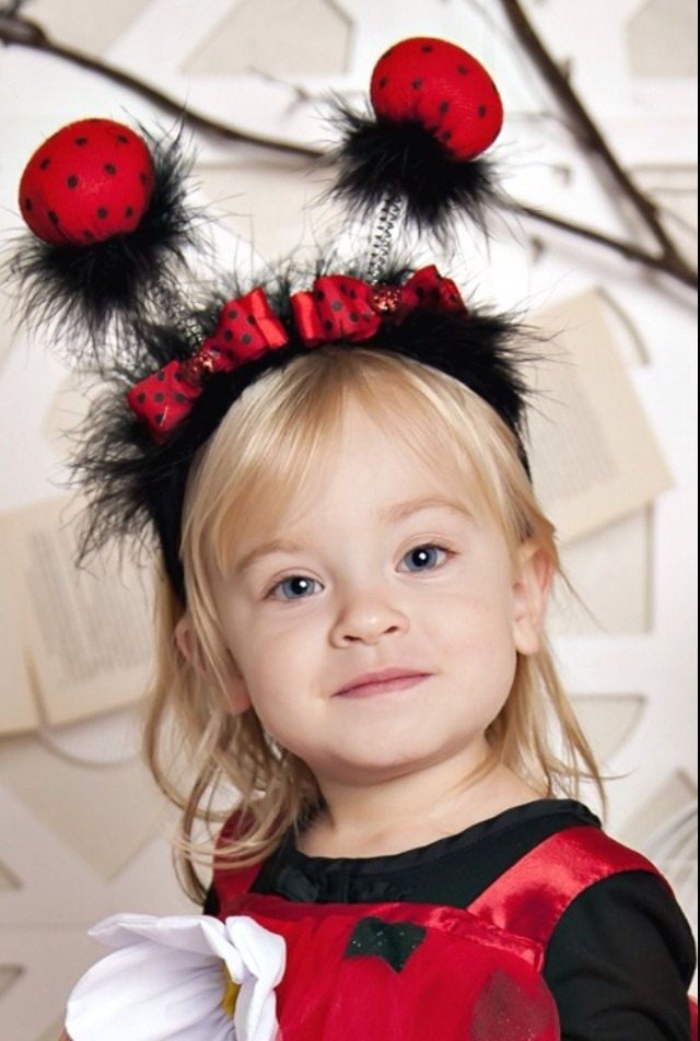 Little Ladybug Headband with shimmery sweet lady accents - pinned by pin4etsy.com