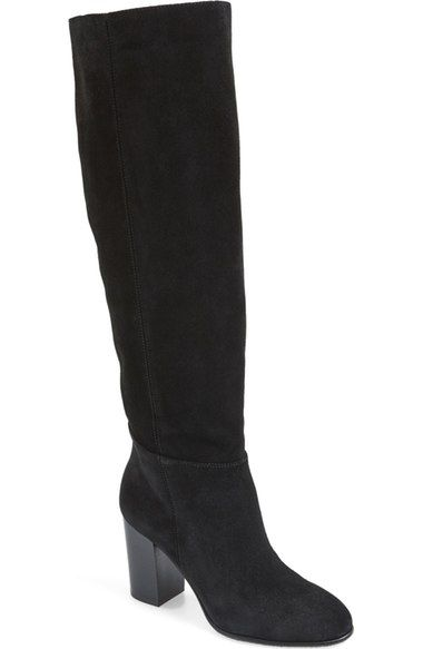 Black suede · SAM EDELMAN 'Silas' Knee High Boot (Women). #samedelman #shoes
