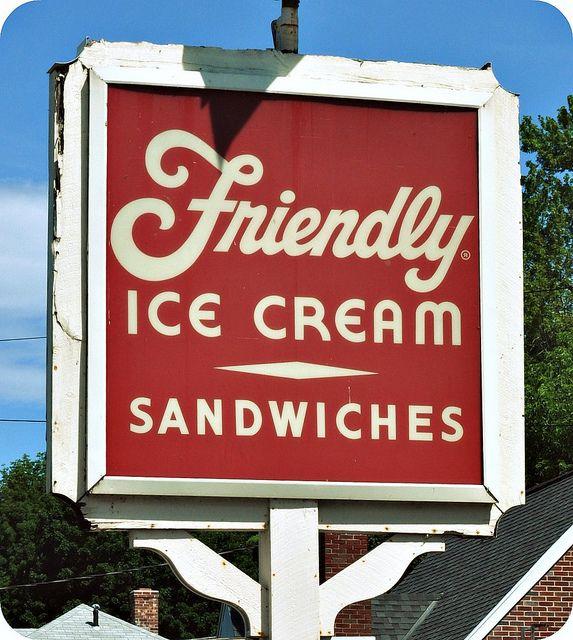 Vintage Friendly Restaurant Sign