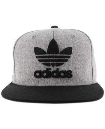 adidas Men s Originals Flat-Brim Cap - Gray Flat Brim Hat 7cc69a3e57d