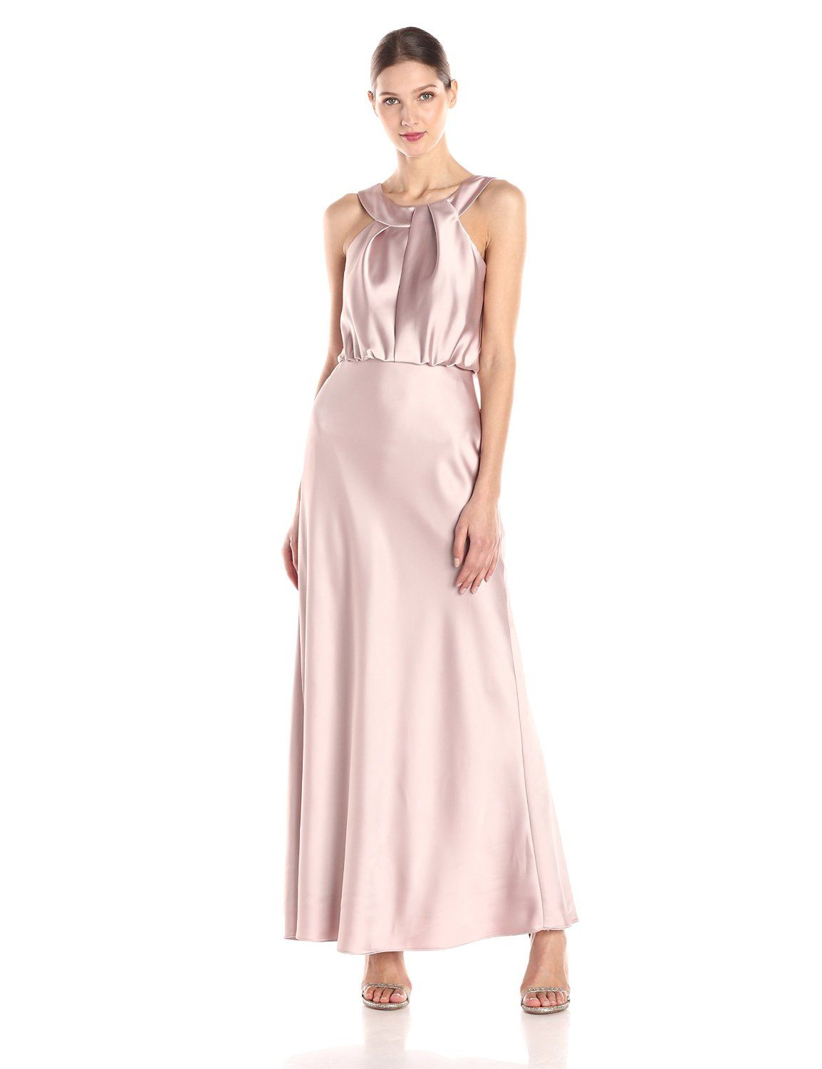 Satin Gown by Calvin Klein | Satin gown, Satin and Gowns