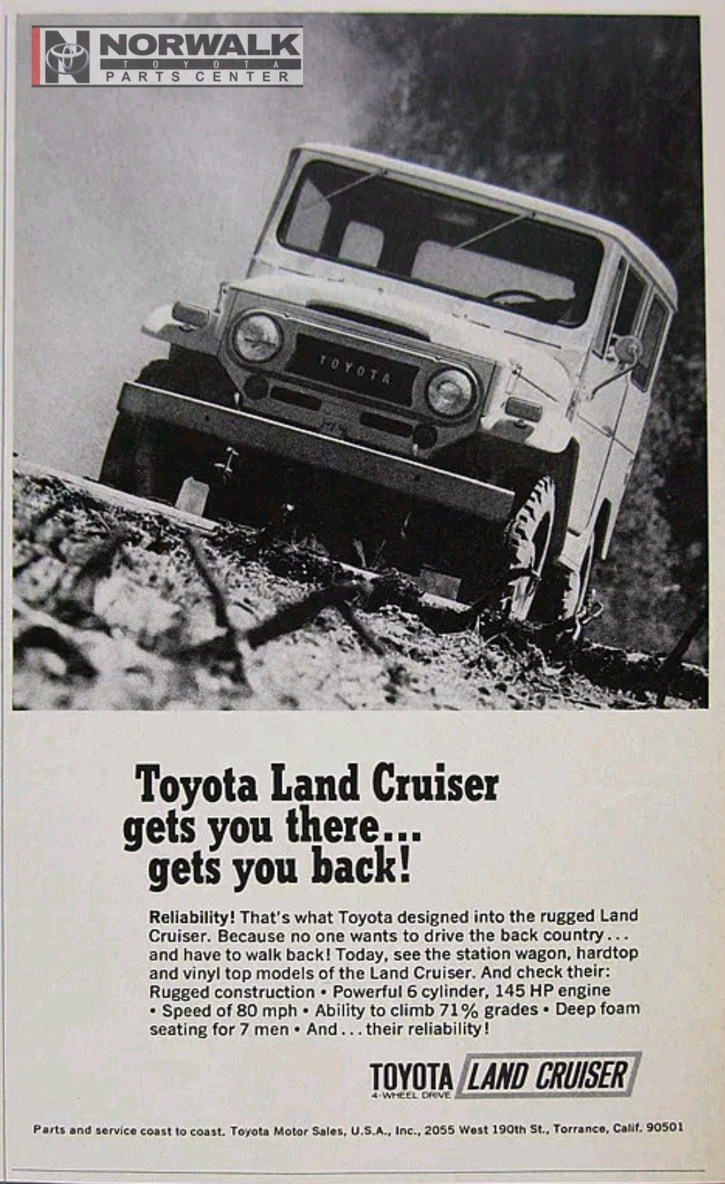 Magazine Ad For 1969 Toyota Land Cruiser Toyota Oem Parts Giant