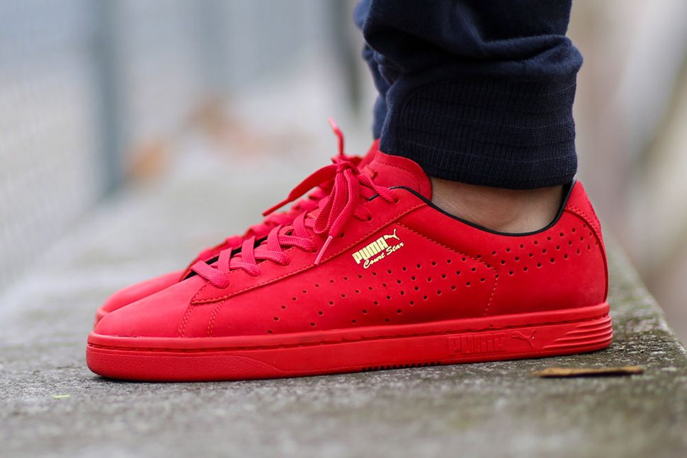 Puma Shoes In Red Colour