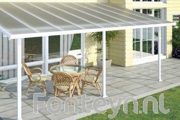 Fonteyn Veranda Overkapping Sigrid 550 x 300 Wit