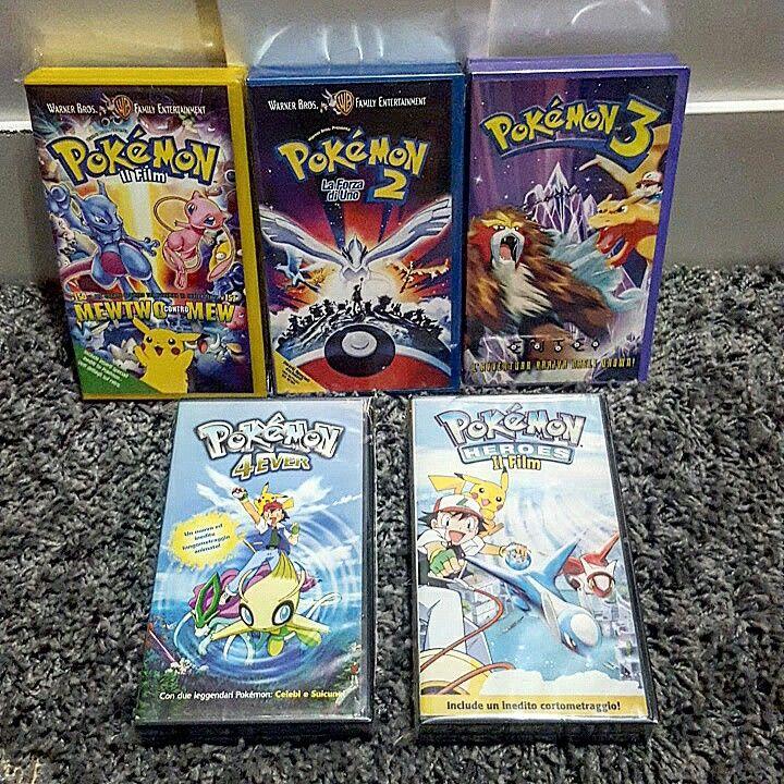 All The Italian VHS Of Pokémon Movies