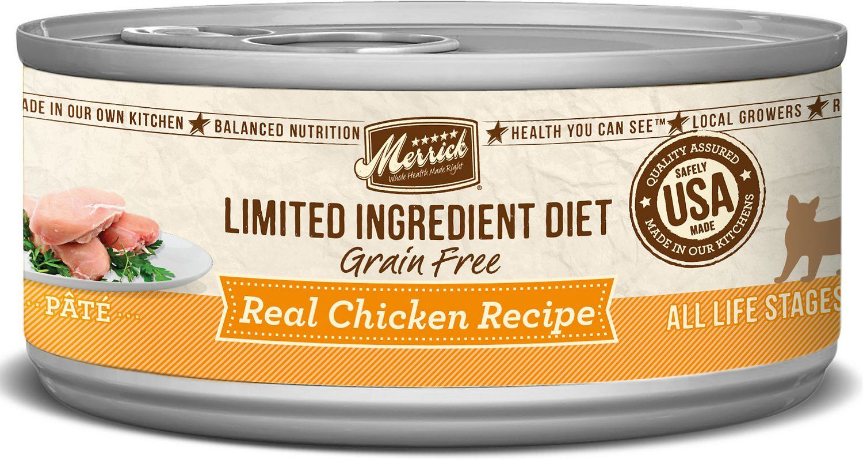 Merrick limited ingredient diet grainfree real chicken
