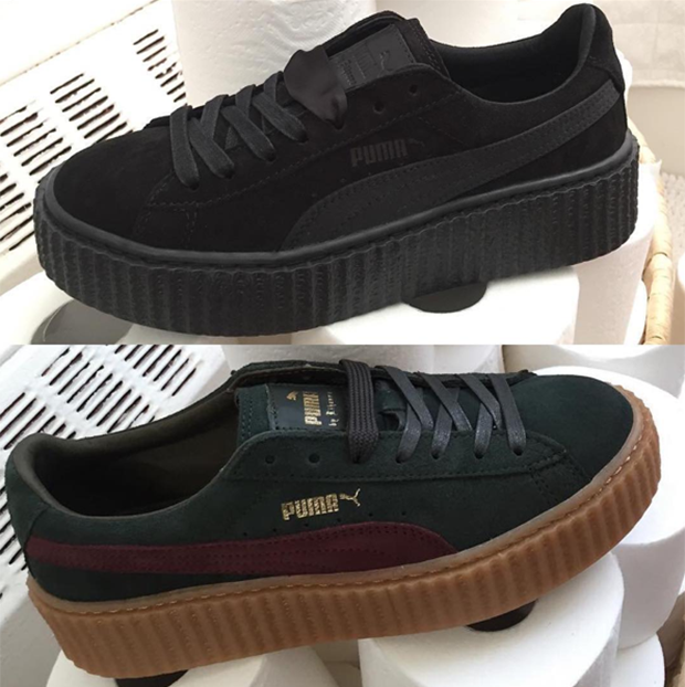 first look at the next rihanna x puma creepers rihanna pinterest puma. Black Bedroom Furniture Sets. Home Design Ideas