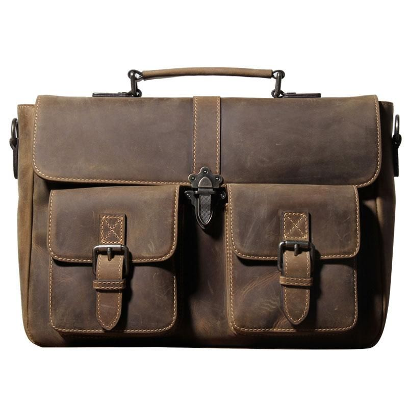 dbced0145914 Handmade Leather Mens Cool Messenger Bag Work Bag Backpack Travel Bag –  iwalletsmen