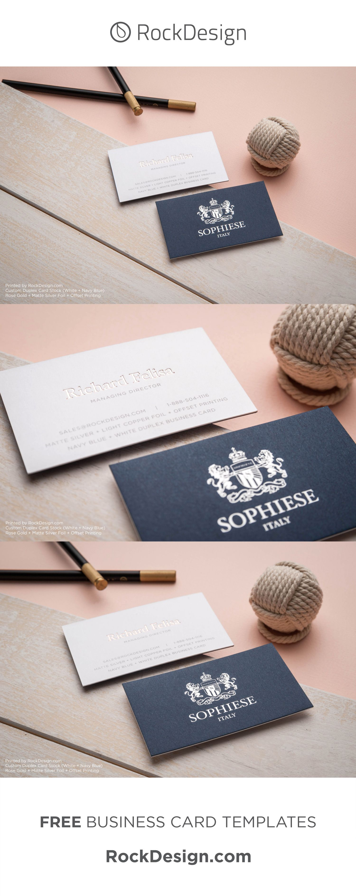 Fancy Custom Navy Blue And White Duplex Business Card With Foil Stamping Sophiese Elegant Business Cards Elegant Business Cards Design Stylish Business Cards