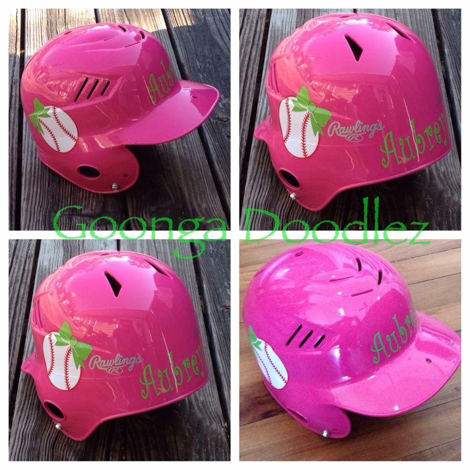 Baseball softball helmet decals goonga doodlez