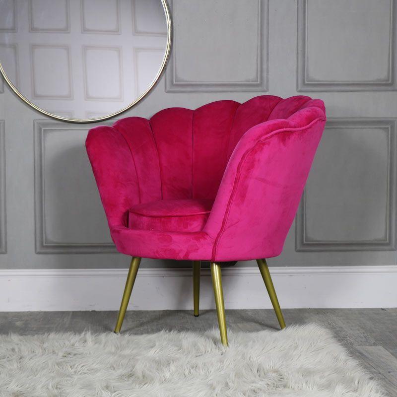 Hot pink velvet boudoir chair in 2020 pink velvet chair