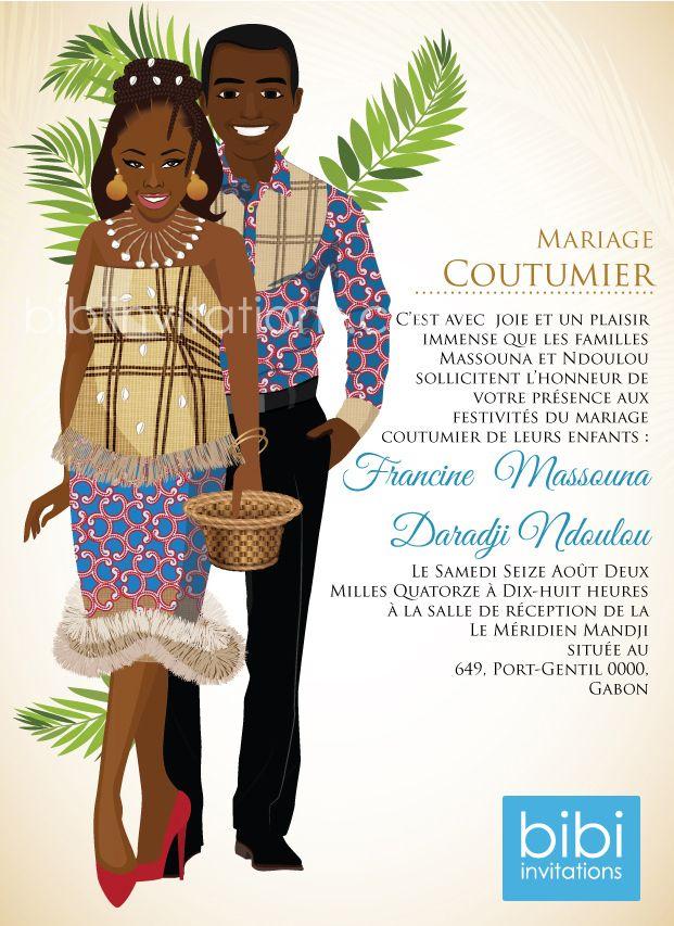 Gabon Traditional Wedding Invitation | Wedding Visions | Pinterest ...