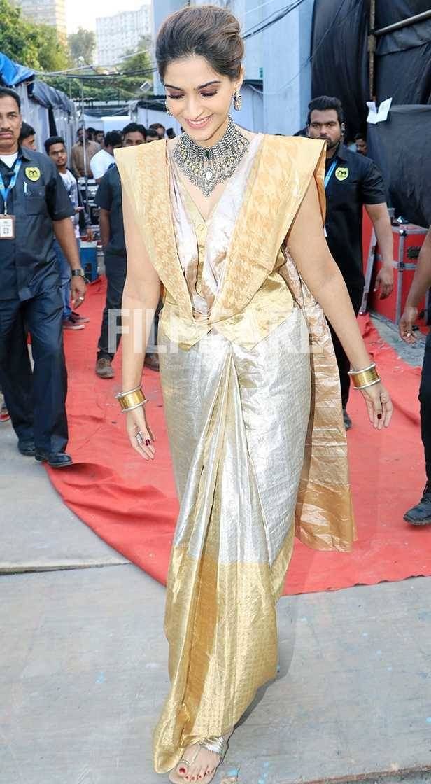 Alia Bhatt Yellow Bollywood Replica Saree   Bollywood