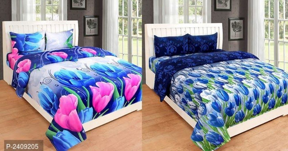 Code 00545 Combo Of Double Bedsheet And Save More Color