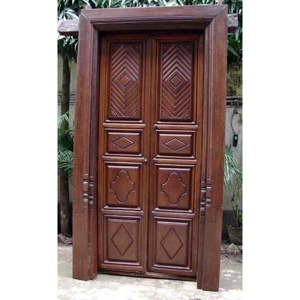 South Indian Teak Double Door With Frame 18th19th Century