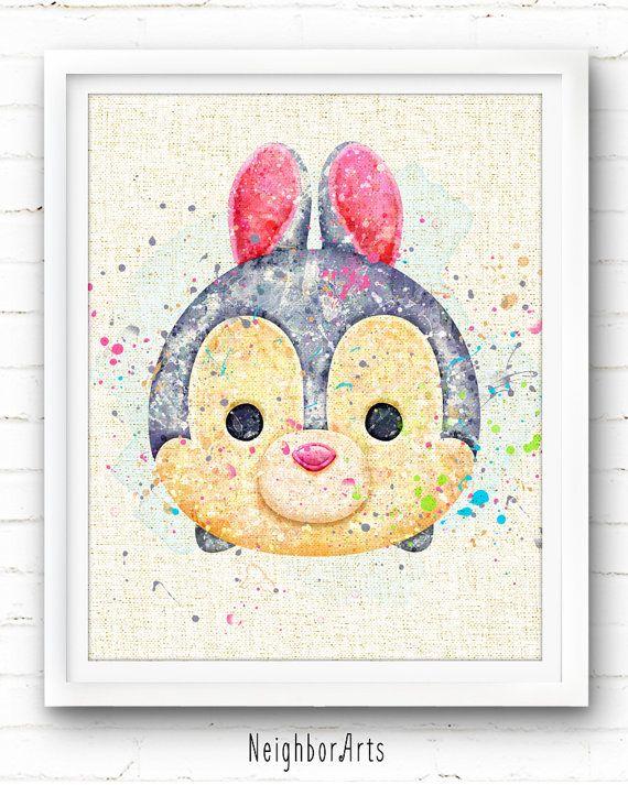 Everywhere - Disney - Thumper - Watercolor Art Print Poster - Wall ...