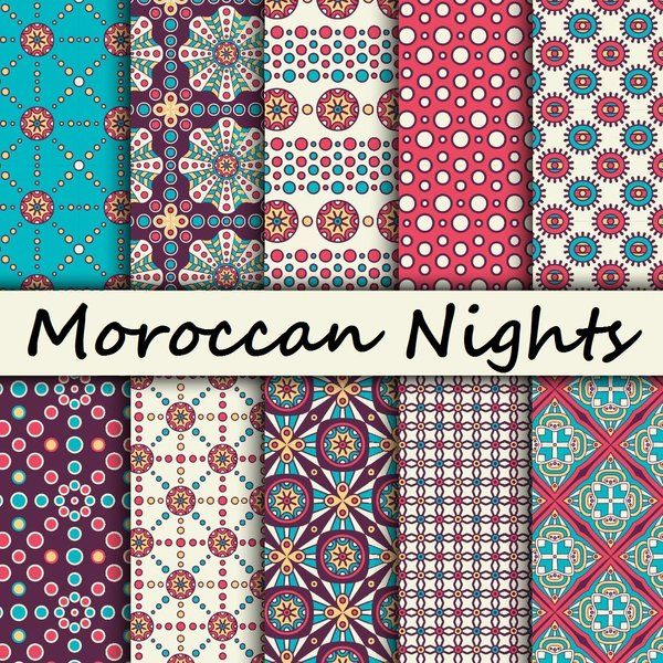 custom printed vinyl moroccan nights multipack 1 bricolage et diy sobres de papel. Black Bedroom Furniture Sets. Home Design Ideas