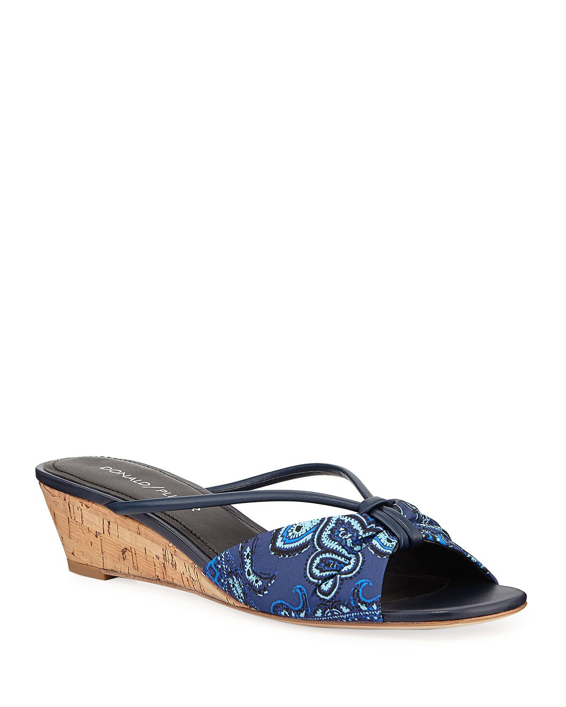 Andra Wishbone Wedge Sandals In 2020 Wedge Sandals Wedges Metallic Wedges