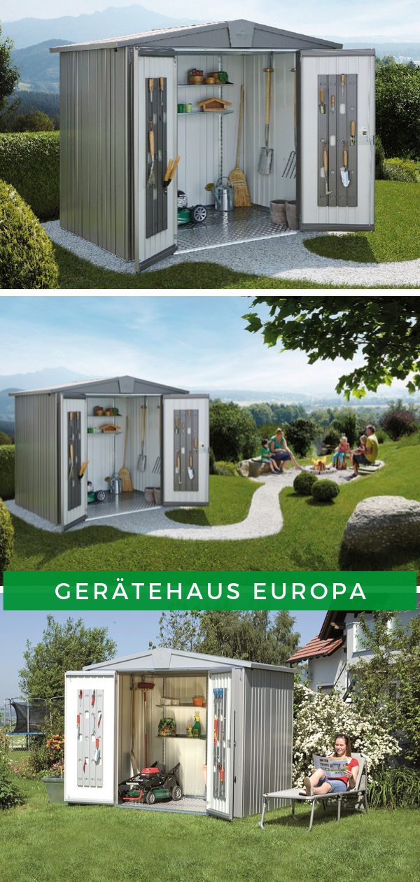 Biohort Gerätehaus Europa (mit Bildern) Gerätehaus