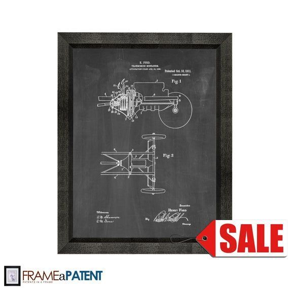 Henry Ford Transmission Patent Print Poster - 1911 - Historical Vintage Wall Art - Great Gift... He