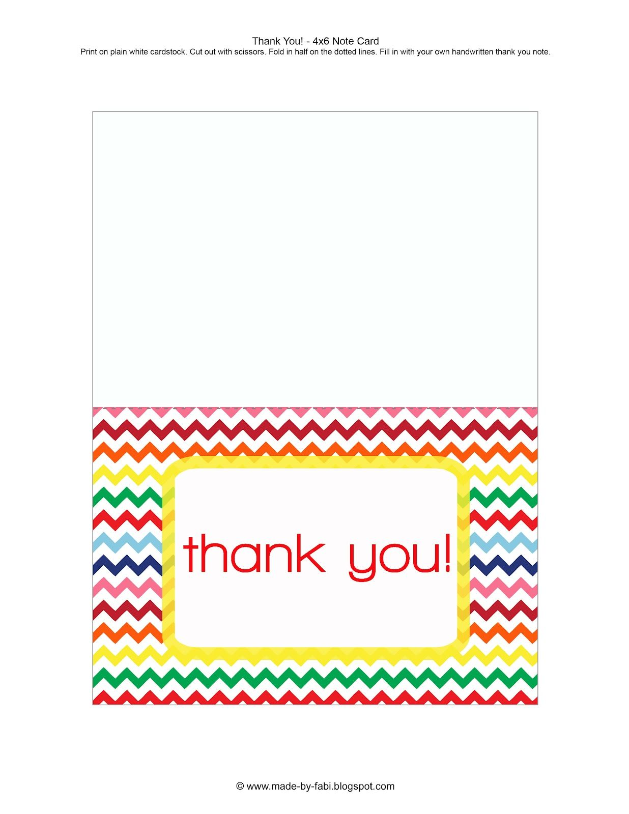 FreePrintableThankYouCardsJpg   Cards And
