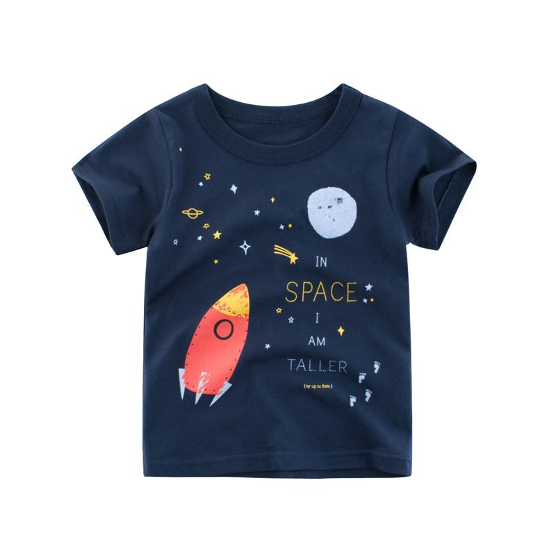 Boys Classic Cartoon Moveing T-Shirt Funny All Cottons Comfy Casual Crew Neck Short Sleeve Summer Tee Shirt