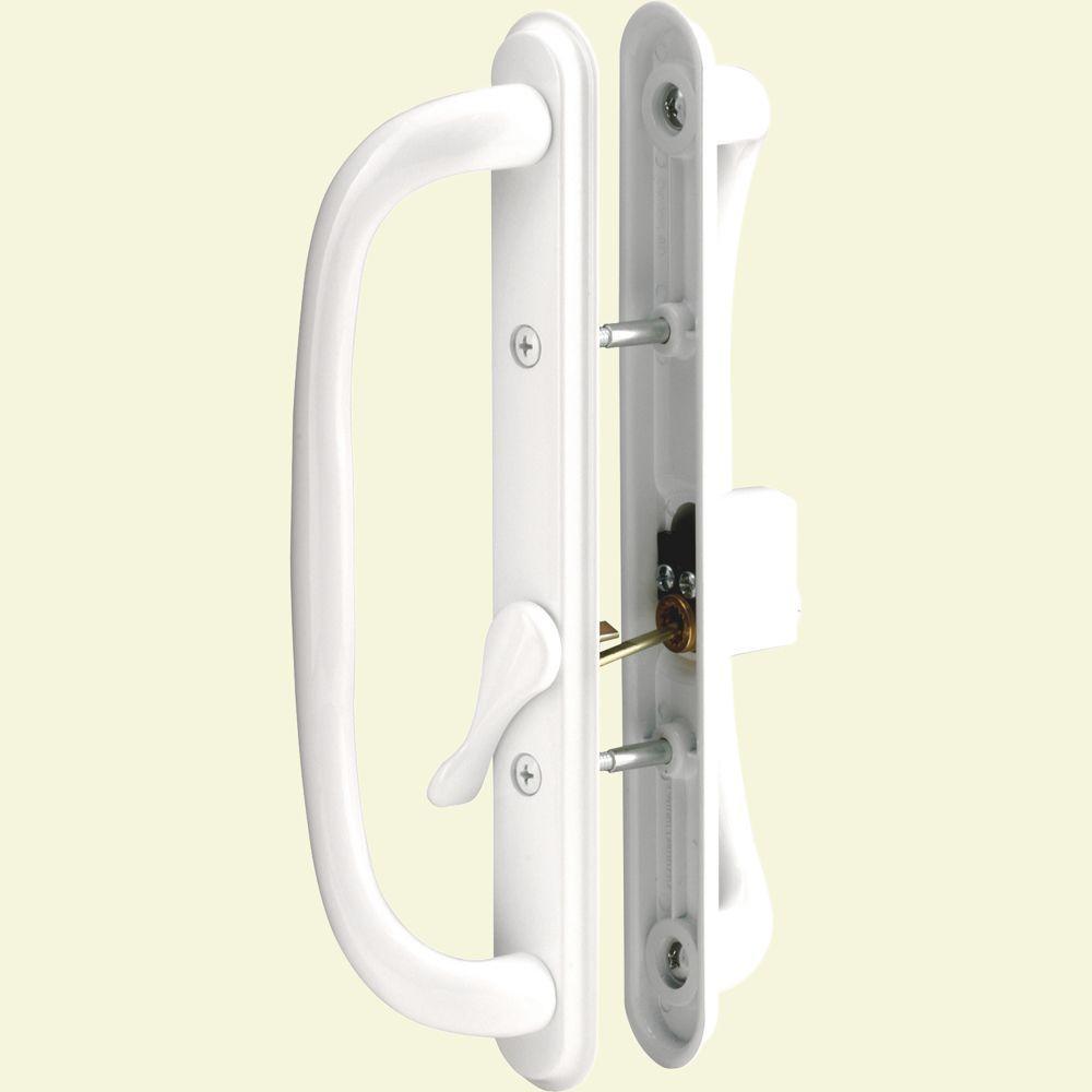 Prime Line Sliding Door Handle Set 10 In Pull Keyed