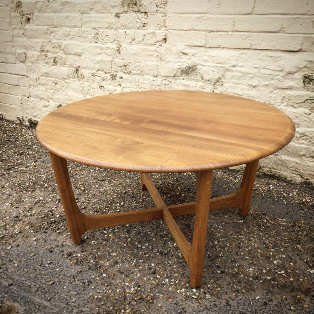 Fabulous Super Rare Elm Beech C1970s Ercol Coffee Table Even