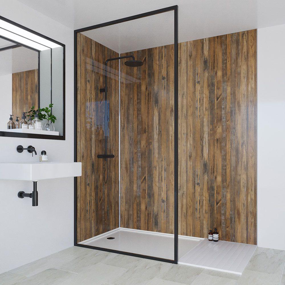 Multipanel Linda Barker Salvaged Plank Elm Bathroom Wall Panel In 2020 Bathroom Wall Panels Bathroom Renovation Trends Waterproof Wall Panels