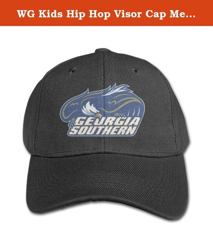 bb656b04f19 australia wg kids hip hop visor cap mesh georgia southern university eagles  black. wg custom