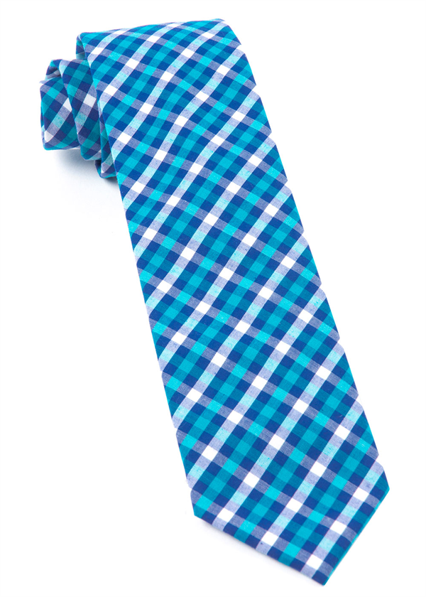 SOUND PLAID TIES - TURQUOISE   Ties, Bow Ties, and Pocket Squares   The Tie Bar